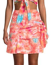 All Things Mochi Mabel Tie-dye Wrap Skirt - Multicolour