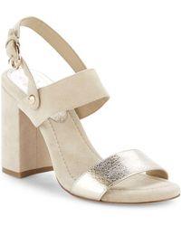 """Joie - Lakin Suede Block Heel Sandals/3.5"""" - Lyst"""