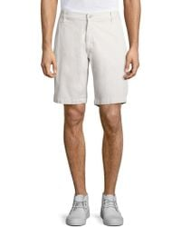 7 For All Mankind - Cotton Blend Chino Shorts - Lyst
