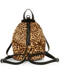 Rebecca Minkoff Women's Mini Julian Leopard-print Calf Hair Backpack - Leopard - Brown