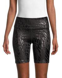 Calvin Klein Women's Logo-print Bike Shorts - Animal Print Black - Size S - Green
