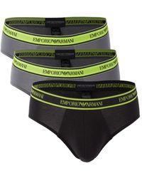 Emporio Armani 3-pack Logo Briefs - Black