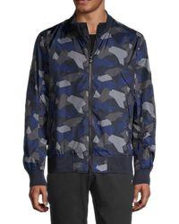 Bogner Camo-print Stand-collar Jacket - Blue