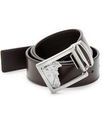 Versace Versace Leather Belt - Black
