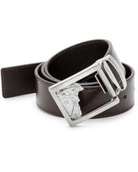 Versace Versace Leather Belt - Black
