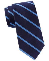 Brooks Brothers Men's Striped Silk Tie - Navy - Blue