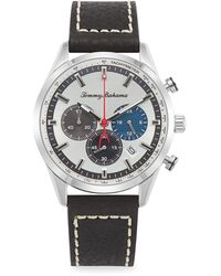 Tommy Bahama Stainless Steel & Leather-strap Monterey Chronograph Watch - Blue