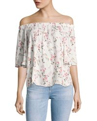 B Collection By Bobeau - Parker Floral Off-the-shoulder Top - Lyst