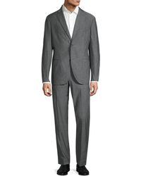Boglioli Classic-fit Single-breasted Chambray Suit - Grey
