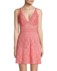 Hanky Panky Signature Retro Lace Chemise - Pink