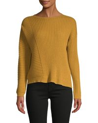Eileen Fisher Rib-knit Cashmere Jumper - Yellow