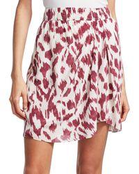 Isabel Marant Yegart Abstract Print Silk Mini Skirt - Red