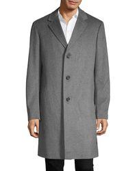 Saks Fifth Avenue Long Wool Coat - Grey