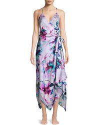 Gottex Primrose Beach Wrap Dress - Purple