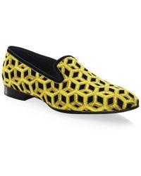 86c4c578988 Louis Leeman - Embroidered Velvet Slip-on Shoes - Lyst