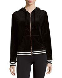 Betsey Johnson - Velour Hooded Jacket - Lyst