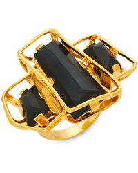 Alexis Bittar 10k Goldplated & Lucite Ring - Multicolour