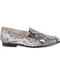 Sam Edelman Lanti Snakeskin Print Leather Loafers - White