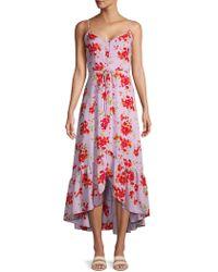 Nanette Lepore - Floral Button Front Midi Dress - Lyst