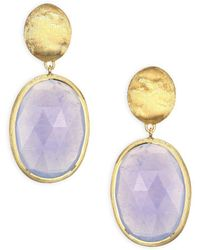 Marco Bicego - Siviglia Chalcedony & 18k Yellow Gold Drop Earrings - Lyst