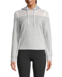 Marc New York Long-sleeve Cotton-blend Hoodie Jacket - Grey