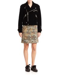 Marc By Marc Jacobs | Semona Velvet Biker Jacket | Lyst
