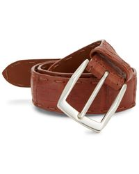 Trafalgar Newington Crocodile Belt in Blue