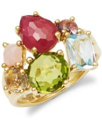 Ippolita - 18k Yellow Gold And Mixed Stones Cocktail Ring - Lyst