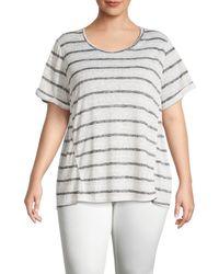 B Collection By Bobeau Plus Ellery Striped T-shirt - Black