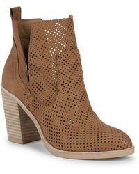 Dolce Vita - Shay Perforated Leather Booties - Lyst