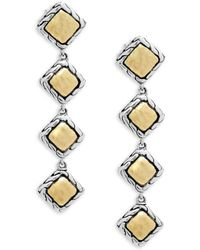 John Hardy - Palu 18k Gold And Silver Linear Earrings - Lyst