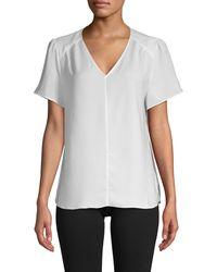 Saks Fifth Avenue Flutter-sleeve Top - Black