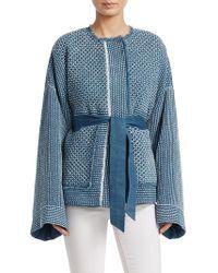 Elizabeth and James - Women's Hayden Quilted Jacket - Light Denim - Size Medium - Lyst