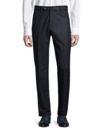 Zanella Men's Parker Wool Trousers - Navy - Size 42 - Blue