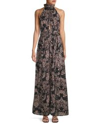 Free People Kissing Sunlight Floral Jumpsuit - Black