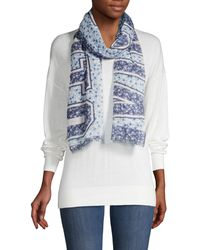 Vince Camuto Mixed Floral-print Scarf - Black