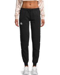 Kappa Women's Bana Brily Cotton-blend Sweatpant Sweatpants - Black - Size M