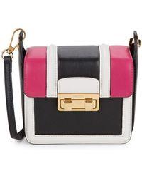 Lanvin Small Lala Leather Crossbody Mini Bag - Pink