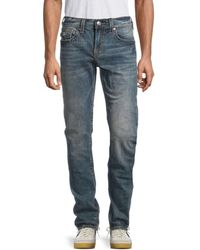 True Religion Rocco Flap Big T Relaxed Skinny-fit Jeans - Blue