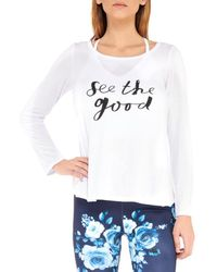 Electric Yoga Women's See The Good Top - White - Size L