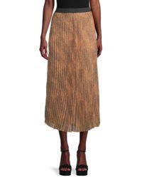 Wdny Sunburst Printed Maxi Skirt - Brown