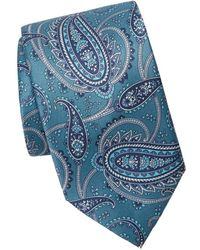 Brioni Men's Floral Paisley Tie - Brown