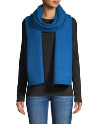 Calvin Klein Pleated Double-faced Blanket Scarf - Multicolor