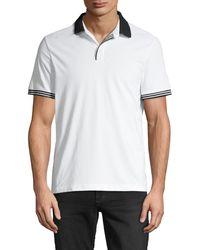 Perry Ellis Short Sleeve Polo Shirt - White