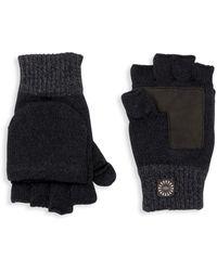 UGG Faux Fur-lined Flip-top Mittens - Black