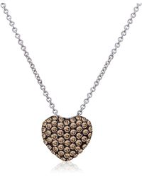 Le Vian - Chocolatier Diamond & 14k White Gold Pendant Necklace - Lyst