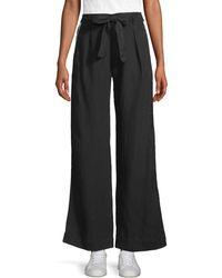 Bella Dahl Wide-leg Linen Pants - Black