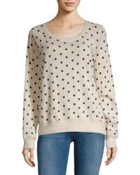 Philosophy By Republic - Polka Dot Cotton Sweater - Lyst