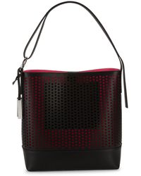 Vince Camuto Perforated Leather Tote - Black