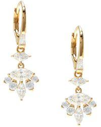 Adriana Orsini Women's Goldtone & Cubic Zirconia Drop Earrings - Metallic
